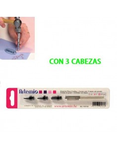COLOCADOR DE REMACHES CON 3 CABEZAS
