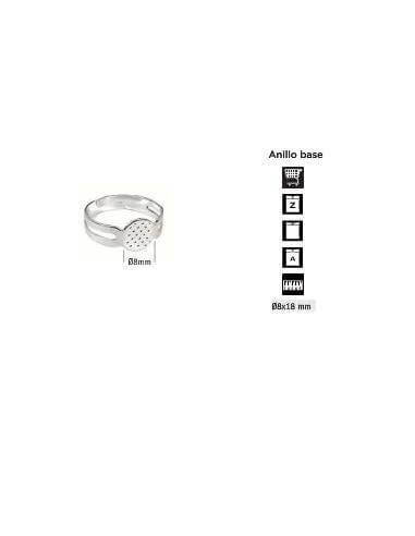 BASE DE ANILLO 8X12MM 10 UNDS