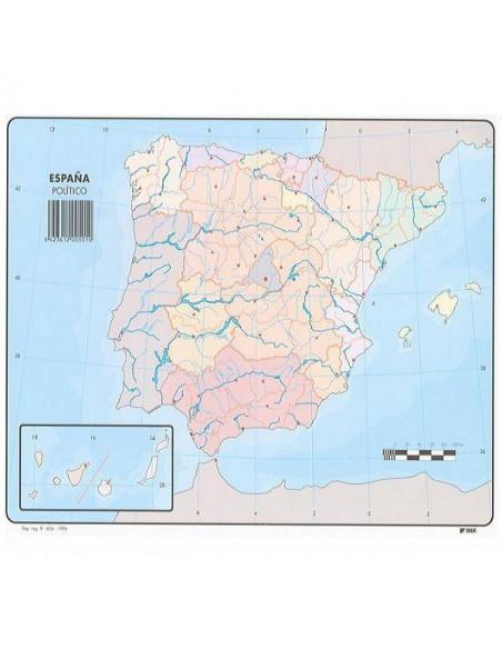 PAQUETE DE MAPAS MUDOS EN COLOR 50 MAPAS POLITICO ESPAÑA