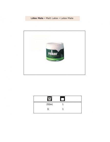 REKAR LATEX PLASTICO CONCENTRADO MATE 250 ML