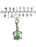 CHARMS CON CIERRE DE COLOR PLATA BLISTER 2 UND