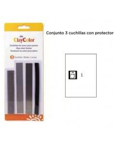 PACK DE 3 CUCHILLAS CON PROTECTOR