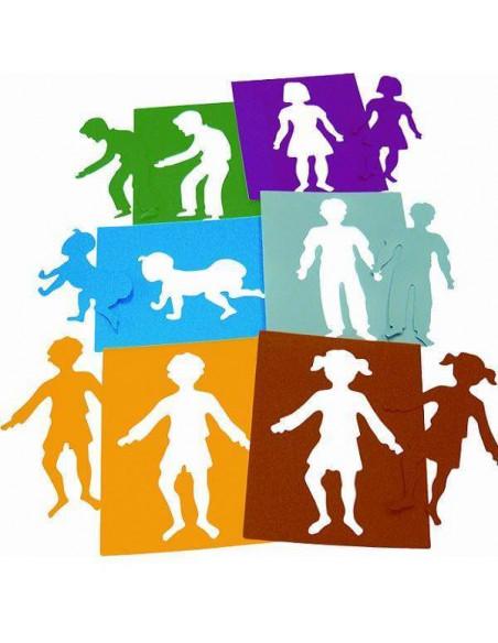 PLANTILLAS INFANTILES PARA GUARDERIAS Y COLEGIOS COLORES SOLIDOS MODELO PERSONAS