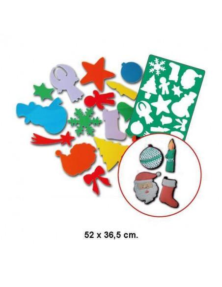 PLANTILLA NAVIDEÑA GIGANTE 52X36.50 CM.