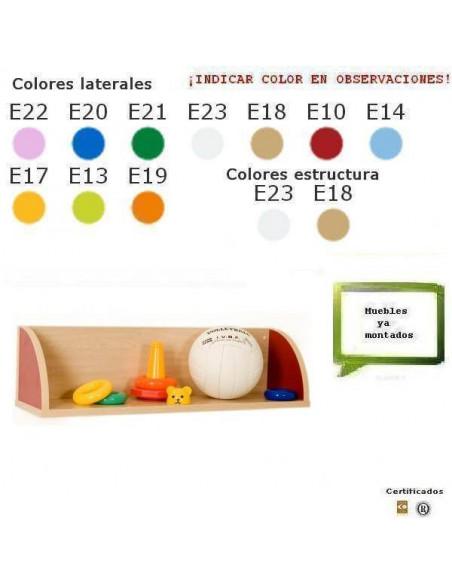 BALDA INFANTIL PARA COLEGIOS CON LATERALES 80 X 22 X 22 CM COLOR HAYA