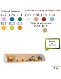 BALDA INFANTIL PARA CENTROS ESCOLARES CON LATERALES 119 X 22 X 22 CM