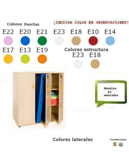 MUEBLE ESCOLAR CON 18 CASILLAS 90 X 76,5 X 40 CM