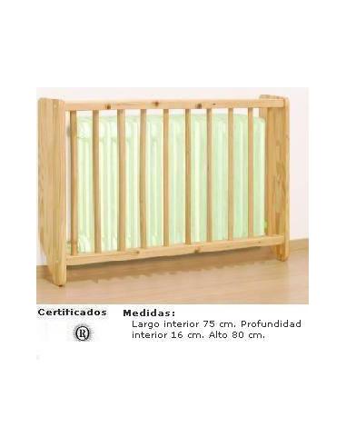 CUBRERADIADOR INFANTIL PARA COLEGIOS CON BARROTES DE 75 X 80 X 16 CM
