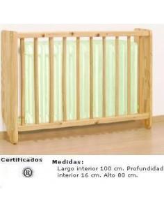 CUBRERADIADOR PARA COLEGIOS CON BARROTES DE 100 X 80 X 16 CM