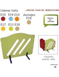 VALLA PARA GUARDERIAS 112 X 79.5 X 42 CM ACABADO EN HAYA