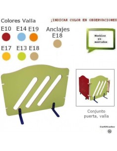 VALLA PARA GUARDERIAS 112 X 79,5 X 42 CM