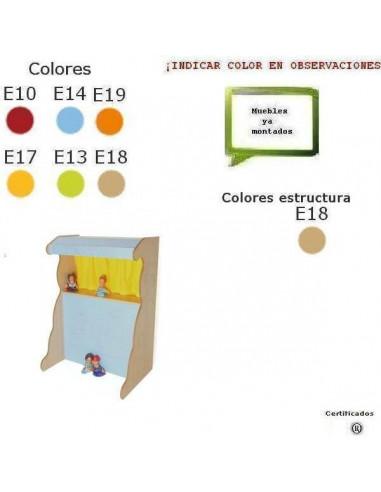 MUEBLE DE TEATRO CON MARIONETAS PARA COLEGIOS 90 X 131 X 65 CM