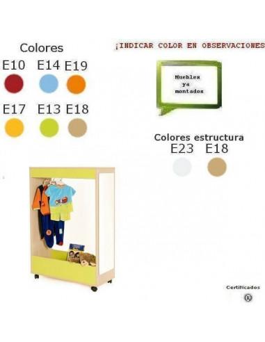 MUEBLE DE DISFRACES PARA CENTROS ESCOLARES ABIERTO DE 90 X 132 X 40 CM