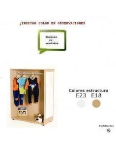 MUEBLE DE DISFRACES PARA COLEGIOS CERRADO DE 90X132X40 CM ACABADO EN HAYA