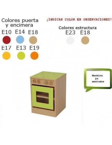 COCINA INFANTIL PARA COLEGIOS CON HORNO Y PLACA 40 X 56 X 40 CM