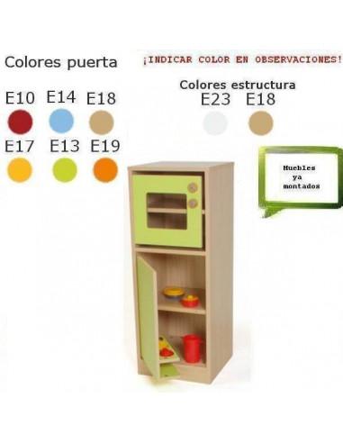 MICROONDAS INFANTIL PARA COLEGIOS CON FRIGORIFICO Y PUERTAS 40 X 106 X 40 CM