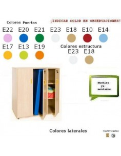MUEBLE DE COLCHONETAS PARA COLEGIOS 120X129X64 CM COLOR HAYA