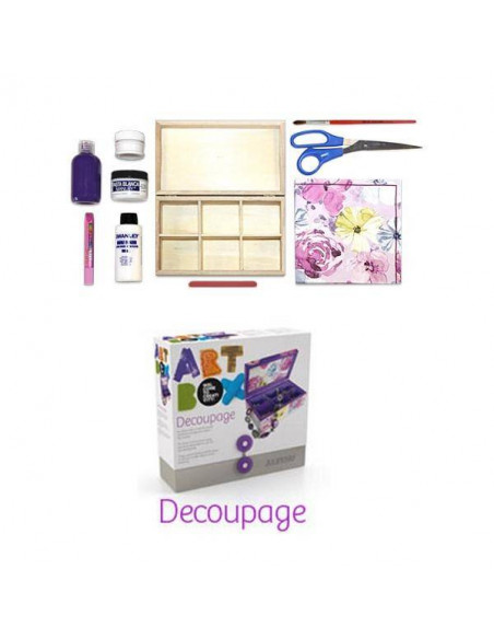KIT DE MANUALIDADES ART BOX ALPINO DECOUPAGE