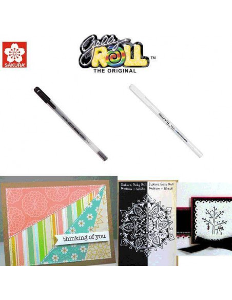 BOLIGRAFO CON TINTA DE GEL GELLY ROLL PARA SCRAPBOOKING GELPEN BASIC COLOR BLANCO