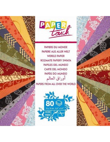 BLOC PAPELES DEL MUNDO PAPEL TOUCH PARA SCRAPBOOKING 16X16CM