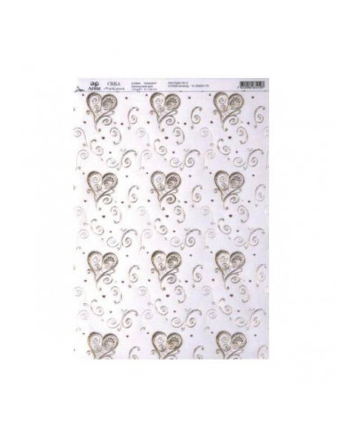 PAPEL ESPECIAL PARA SCRAP A4 210 X 300 MM 200GR2 DANCING HEART TRANSPARENTE