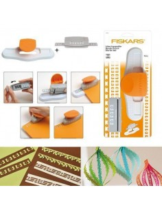PERFORADORA DE BORDES PARA SCRAPBOOKING CARTUCHOS INTERCAMBIABLES FISKARS