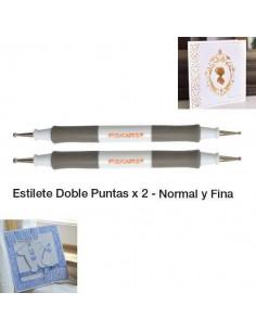 ESTILETES CON 2 PUNTAS PARA TEXTURIZACION Y GOFRADO DE FISKARS