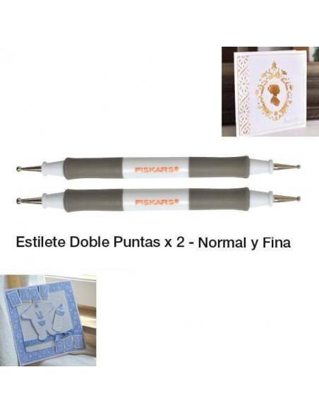 ESTILETES CON 2 PUNTAS PARA TEXTURACION Y GOFRADO DE FISKARS