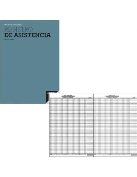 REGISTRO DE ASISTENCIA PARA EL CONTROL DE AUSENCIA Y RETRASO DE LOS ALUMNOS 18.5 X 28.5 CM