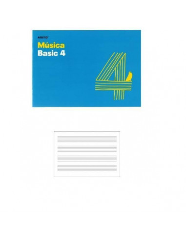 CUADERNO DE MUSICA 4 PENTAGRAMAS PARA LOS MAS PEQUEÑOS 24 X 17CM