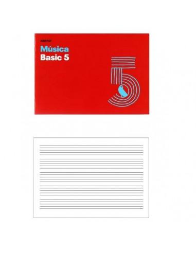 CUADERNO DE MUSICA 5 PENTAGRAMAS PARA LA EVOLUCION EN ESCRITURA MUSICAL 24 X 17 CM