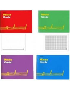 CUADERNO DE MUSICA COMBI ADDITIO 24 X 17 CM PENTAGRAMA DE 20 MM