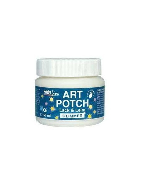 ART POTCH DE BARNIZ COLA CON PURPURINA PARA TECNICA DE SERVILLETAS 150 ML