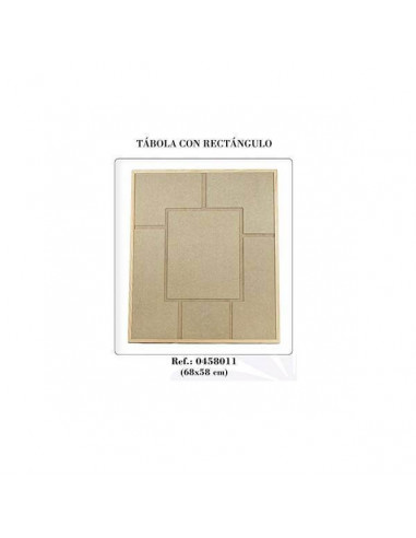 TÁBOLA CON RECTÁNGULO 68 X 58 CM