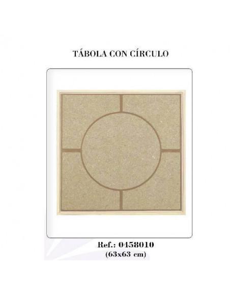 TÁBOLA CON CÍRCULO DE 63 X 63 CM