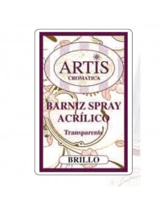 BARNIZ DE SPRAY CON BRILLO