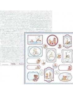 LÁMINA PARA SCRAP MODELO  SCP-023 DE 30 X 30 CM