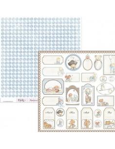 HOJA PARA MANUALIDADES Y SCRAPBOOKING  SCP-032 MEDIDA 30 X 30 CM
