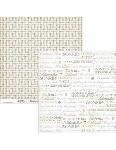 PAPEL SCRAPBOOKING MODELO  SCP-034 DE 30 X 30 CM