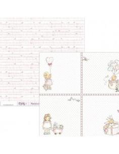 PAPEL  PARA SCRAPBOOKING MODELO  SCP-039 DE 30 X 30 CM