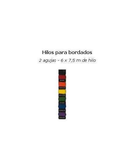 HILOS PARA PAPEL DE SCRAP KIT DE 6 COLORES Y DOS AGUJAS