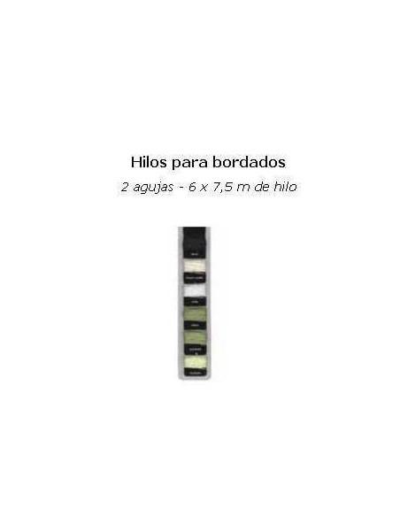 HILOS PARA PAPEL DE SCRAP VERDES. BLANCO Y CREMA