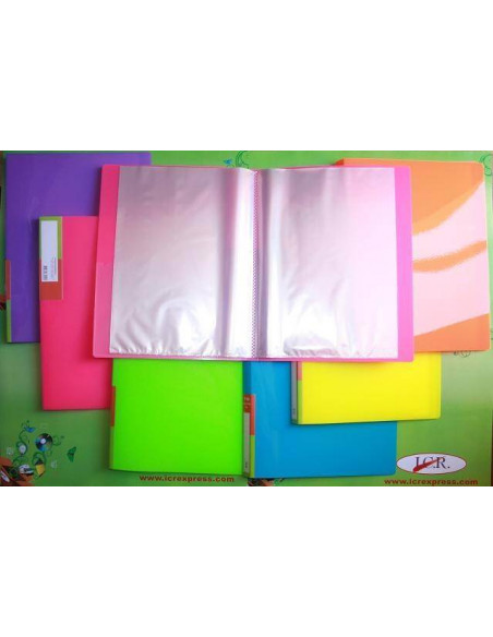 CARPETA DE FUNDAS A4 CON 20 FUNDAS ICR HIGHT QUALITY COLOR AZUL