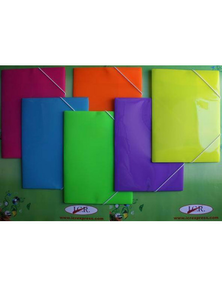 CARPETA A4 DE POLIPROPILENO RAYADO CON GOMAS HIGH QUALITY COLOR AZUL