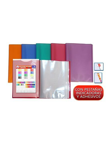 CARPETA ACTIVE A4 SUPRA DE COLOR AZUL CON 40 FUNDAS ULTRA CRISTAL