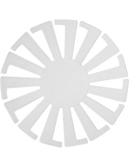 PLANTILLA MERGE DE PLASTICO DIAM 8CM
