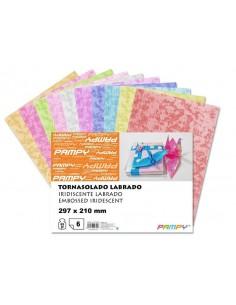 LAMINAS PAPEL TORNASOLADO LABRADO 6 H A4 297x210mm 65 gr