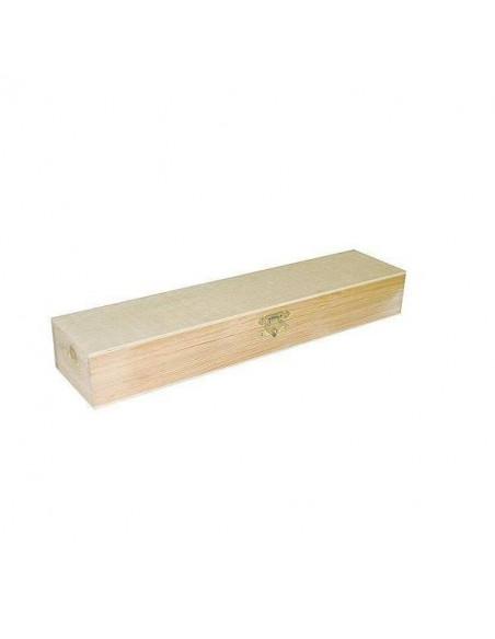Plumier de madera de pino macizo y chapa 36x8x5cm.