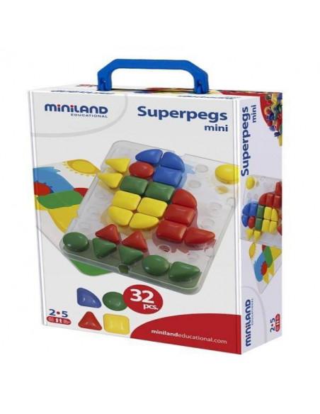 Juego de pinchos superpegs mini de 32 piezas