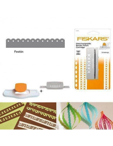 CARTUCHOS DE BORDES PARA PERFORADORA FISKARS MODELO FESTON